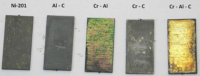 Investigation of Na2SO4 Deposit Induced Corrosion of Cr, Al, C Binary and Ternary Thin Film Coatings on Ni-201- Advances in Engineering