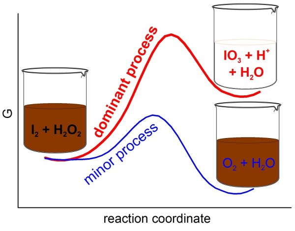 Domination of Thermodynamically Demanding Oxidative Processes in Reaction of Iodine with Hydrogen Peroxide. Advances in Engineering