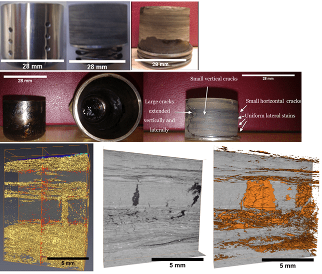 Fluid expulsion and microfracturing during the pyrolysis of an organic rich shale - Advances in Engineering