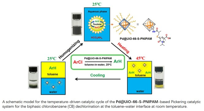 Thermo-responsive polymer-tethered and Pd NPs loaded UiO-66 NMOF for biphasic CBs dichlorination - Advances in Engineering