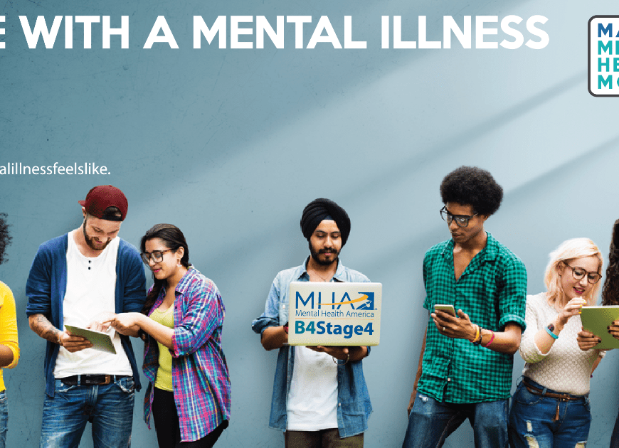 LIfe with a mental illness banner.