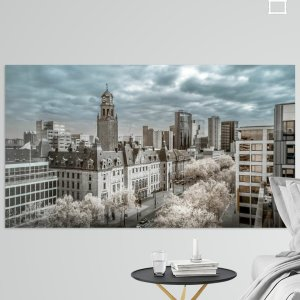 Infraroodfoto van het Stadhuis te Rotterdam aan de Coolsingel