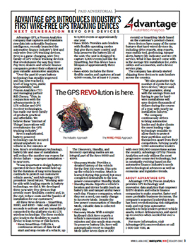 Industry's First Wire-Free GPS Device - Advantage GPS