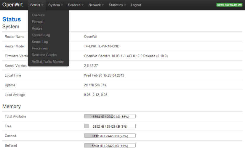 OpenWRT: Bootstrap Luci Theme