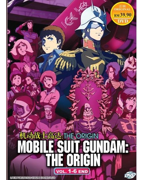 * ENG DUB * MOBILE SUIT GUNDAM: THE ORIGIN VOL. 1- 6 END DVD