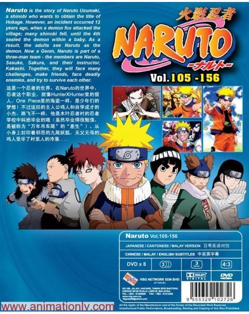 NARUTO (TV 105 - 156) BOX 3 DVD
