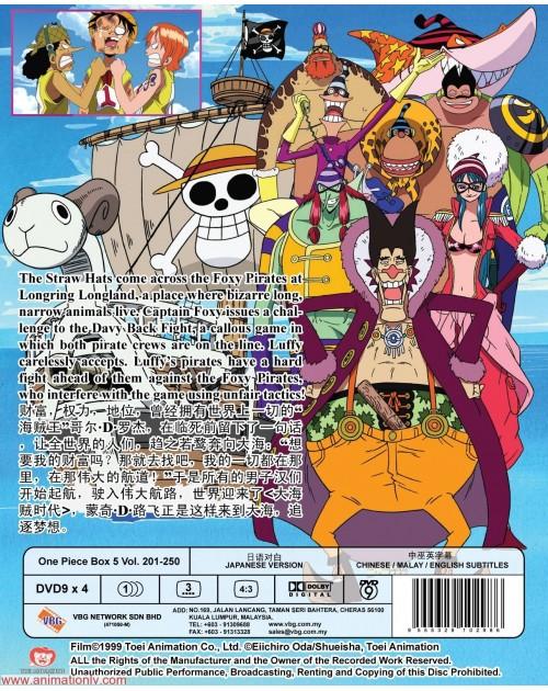 ONE PIECE BOX 5 (TV 201 - 250) DVD