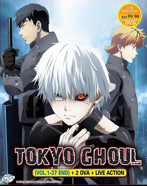 TOKYO GHOUL SEA 1-3 + 2 OVA + LIVE ACTION *ENG DUB*