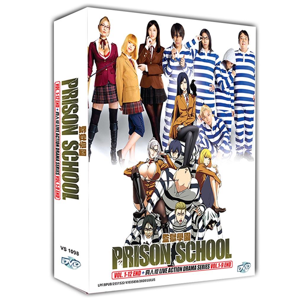 Prison School Vol.1-12 End + Live Action Drama Series Vol.1-9 End DVD