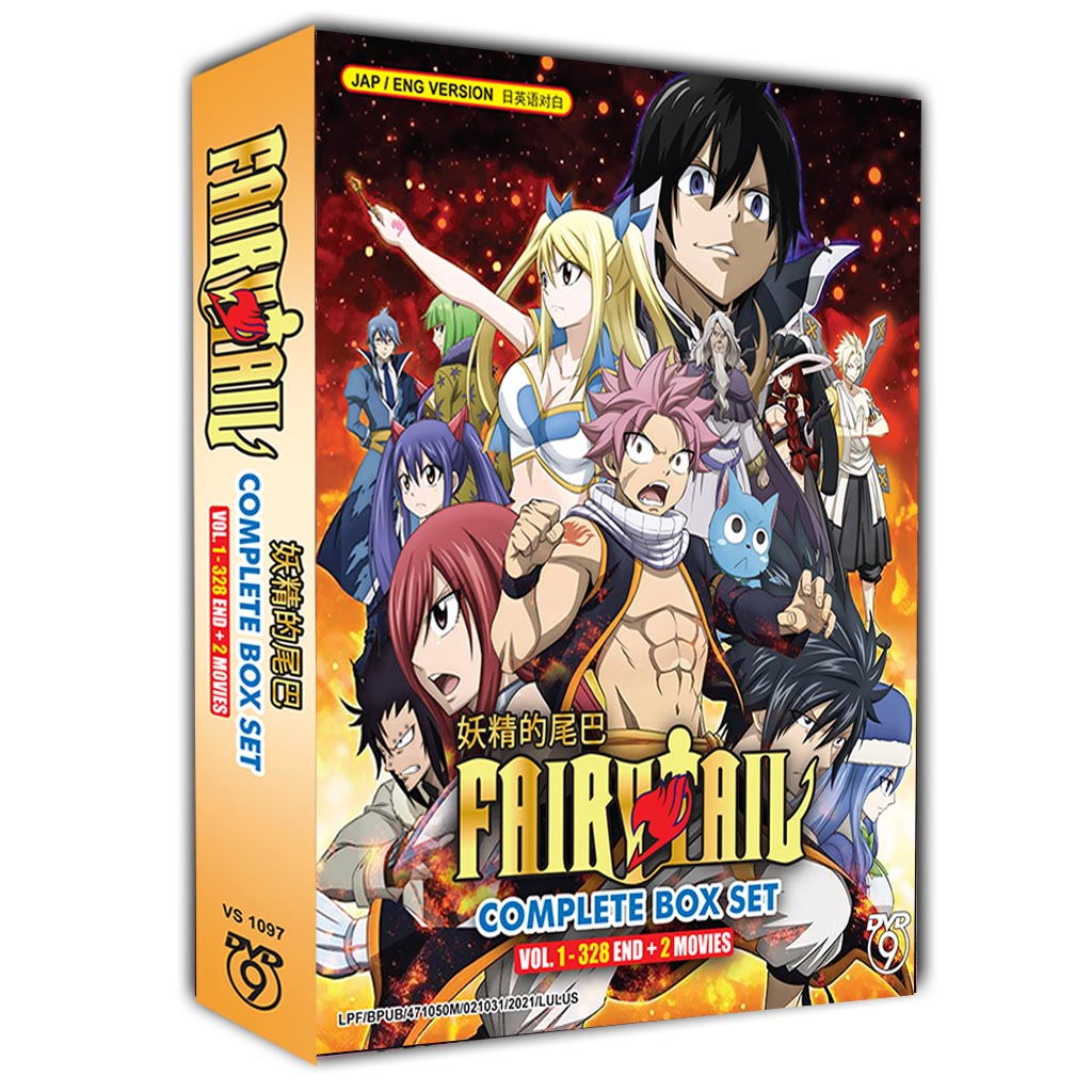 Fairy Tail Complete Box Set Vol. 1 - 328 End - 2 Movies DVD