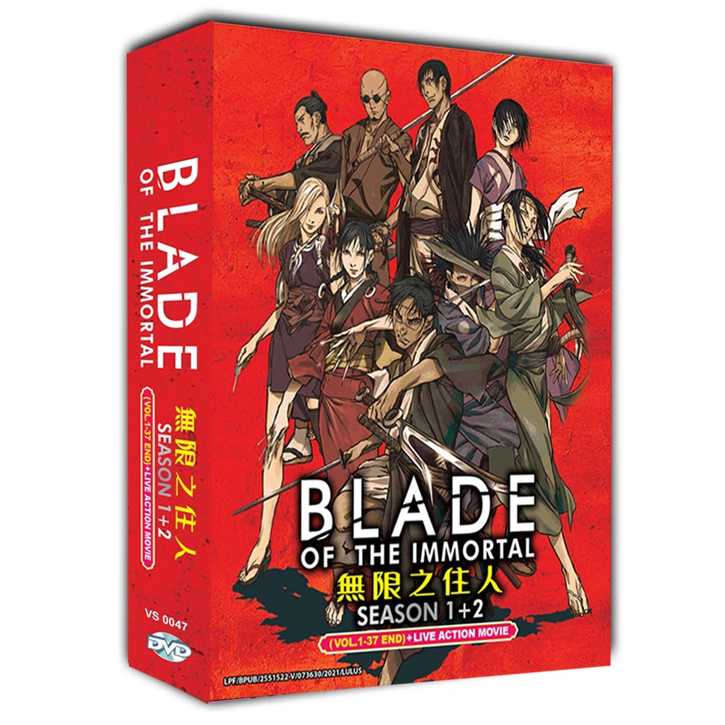 Blade Of The Immortal Season 1+2 Vol.1-37 End - Live Action Movie DVD