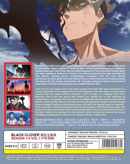 Black Clover Season 1-4 Vol.1-170 End DVD