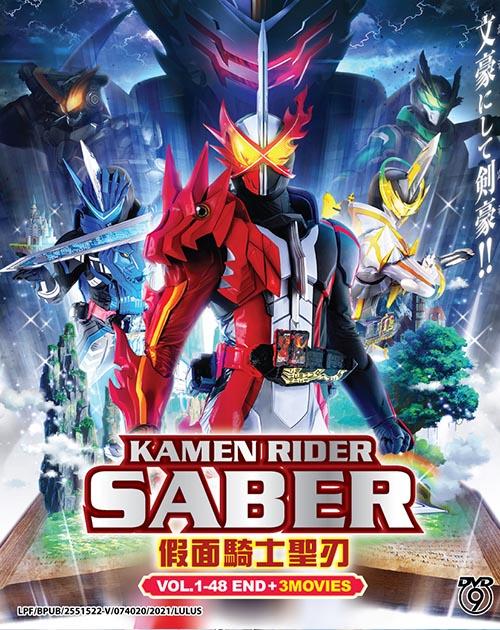 Kamen Rider Saber Vol.1-48 End - 3 Movies DVD