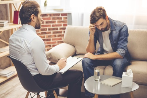 man receiving individual counseling from a therapist | Advent Counseling | Family, Couples, & Individual Therapy | Canton, GA