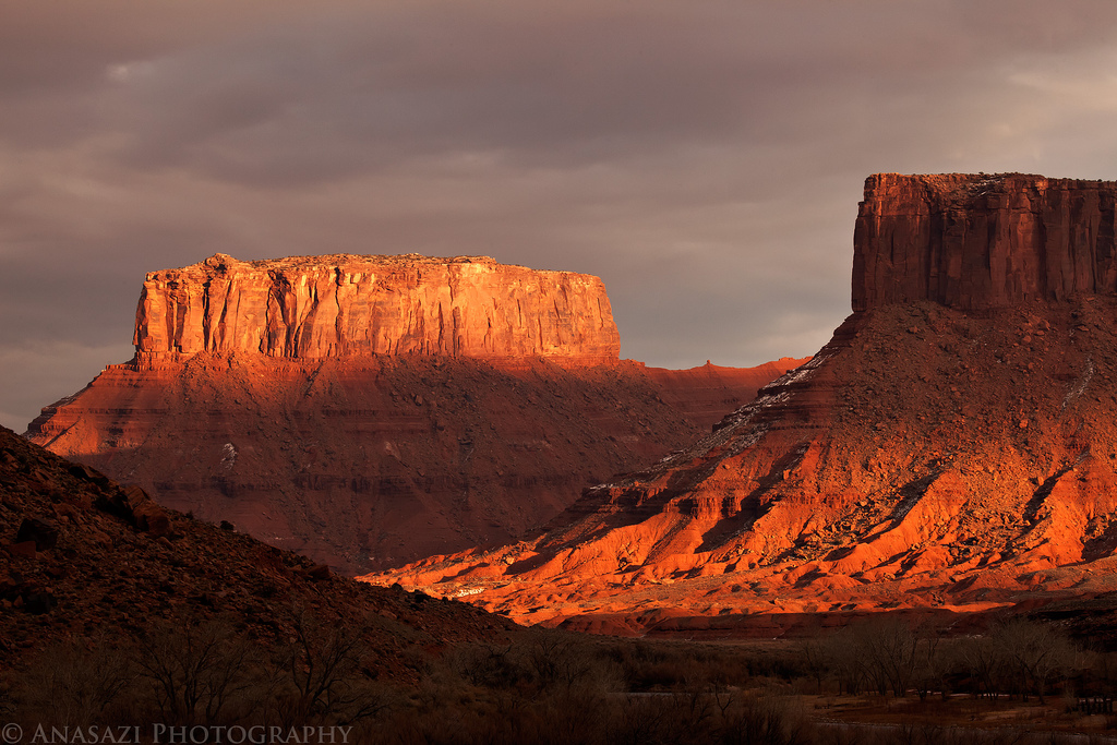 Light, Clouds and Hiking Around Moab