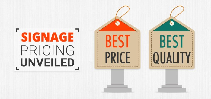 Signage Pricing Fundamentals Every Procurement Manager Should Know