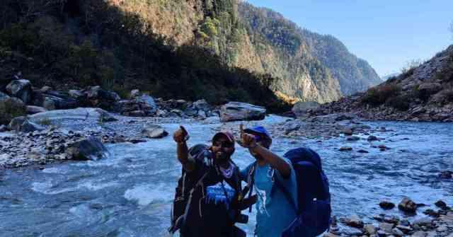 The Sundhardhunga river in Kumaon