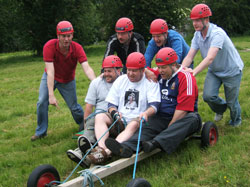 adventure activities, wales, land carting