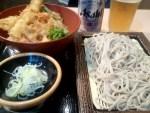 五反田の雄 ことぶきで天丼セット/蕎麦超人030玉目