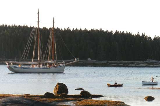 American Eagle Schooner at anchor