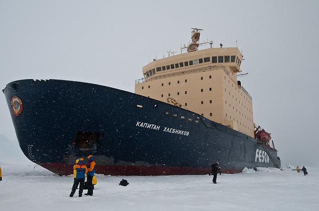 Kapitan Khlebnikov gets ready to go. Flickr/Dave Cove