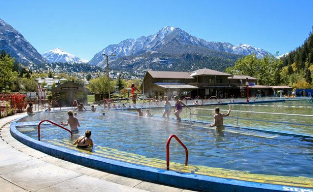 The Ouray Hot Springs in late summer. Photo byMatt Inden/Miles