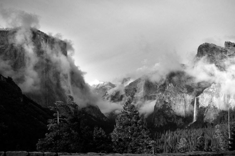 Winter Storm Clearing over Yosemite Valley