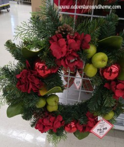 Inviting door decor for less than $25 to make! This Christmas wreath project takes less than an hour and will make your door look stunning for the holiday season!