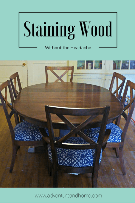 Learn some helpful staining tips when refinishing your own furniture without the headache! Pin to read now or save for later!