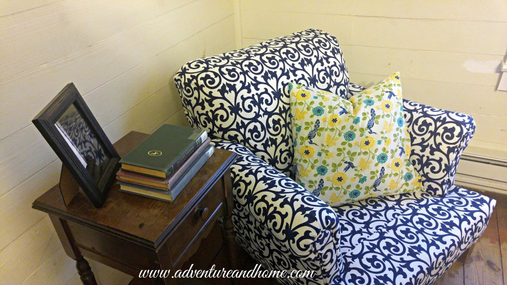 DIY Chair Reveal -- Check out the results of my first major upholstery project! I did this and so can you! Pin to read now or later!