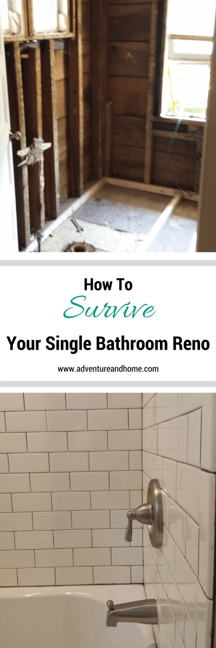 15 Tips to get you through your single bathroom renovation without booking a hotel! Save money without sacrificing your sanity!