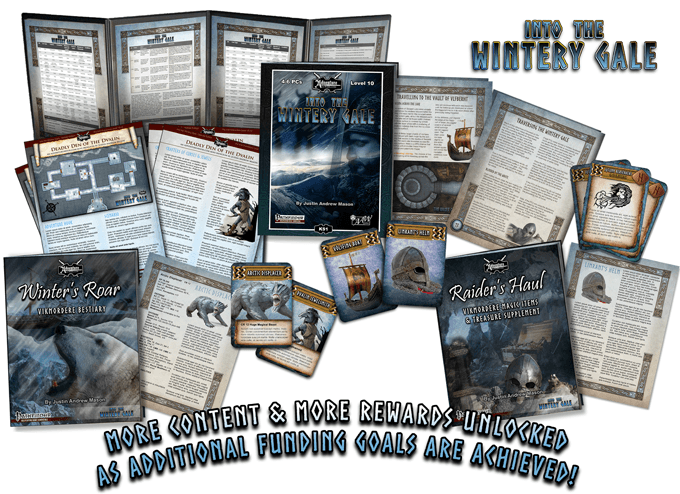Into the Wintery Gale - game set