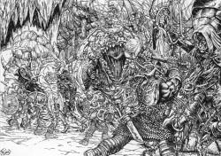 Dwarf-caravan-under-attack