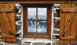 baroness grandaj's estate - frosted window