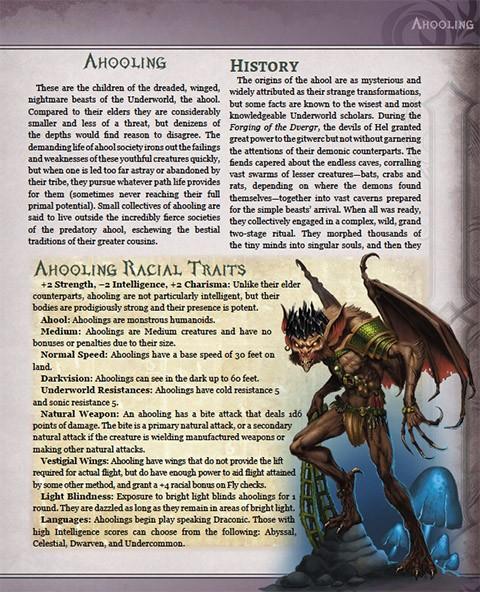 Underworld Races & Classes (Pathfinder 1e Hardcover/PDF)