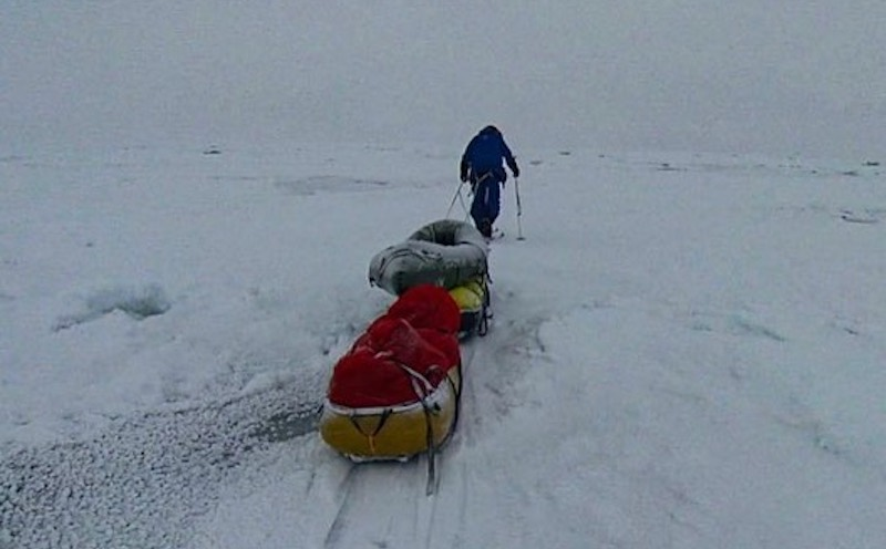 Mike Horn and Borge Ousland Making Slow Progress Towards North Pole