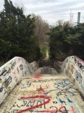 Last turn of the water slide