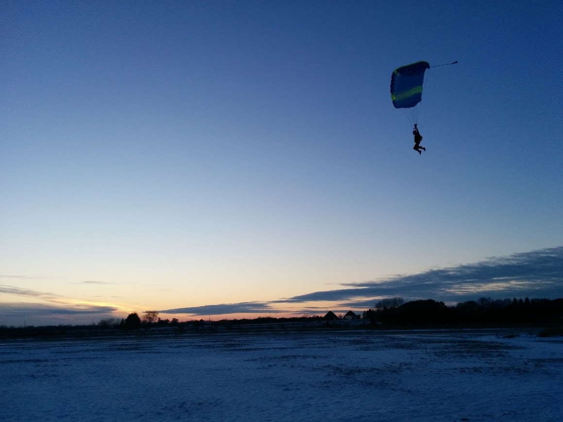 Winter Skydiving