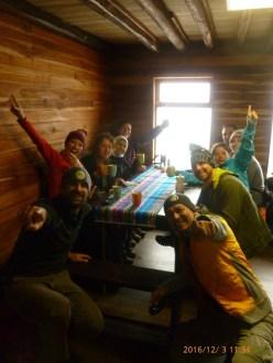 Inside the base camp.