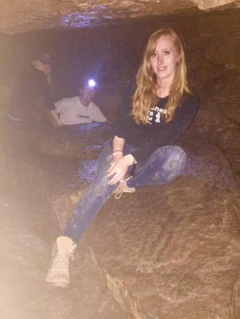 Resting in a cave