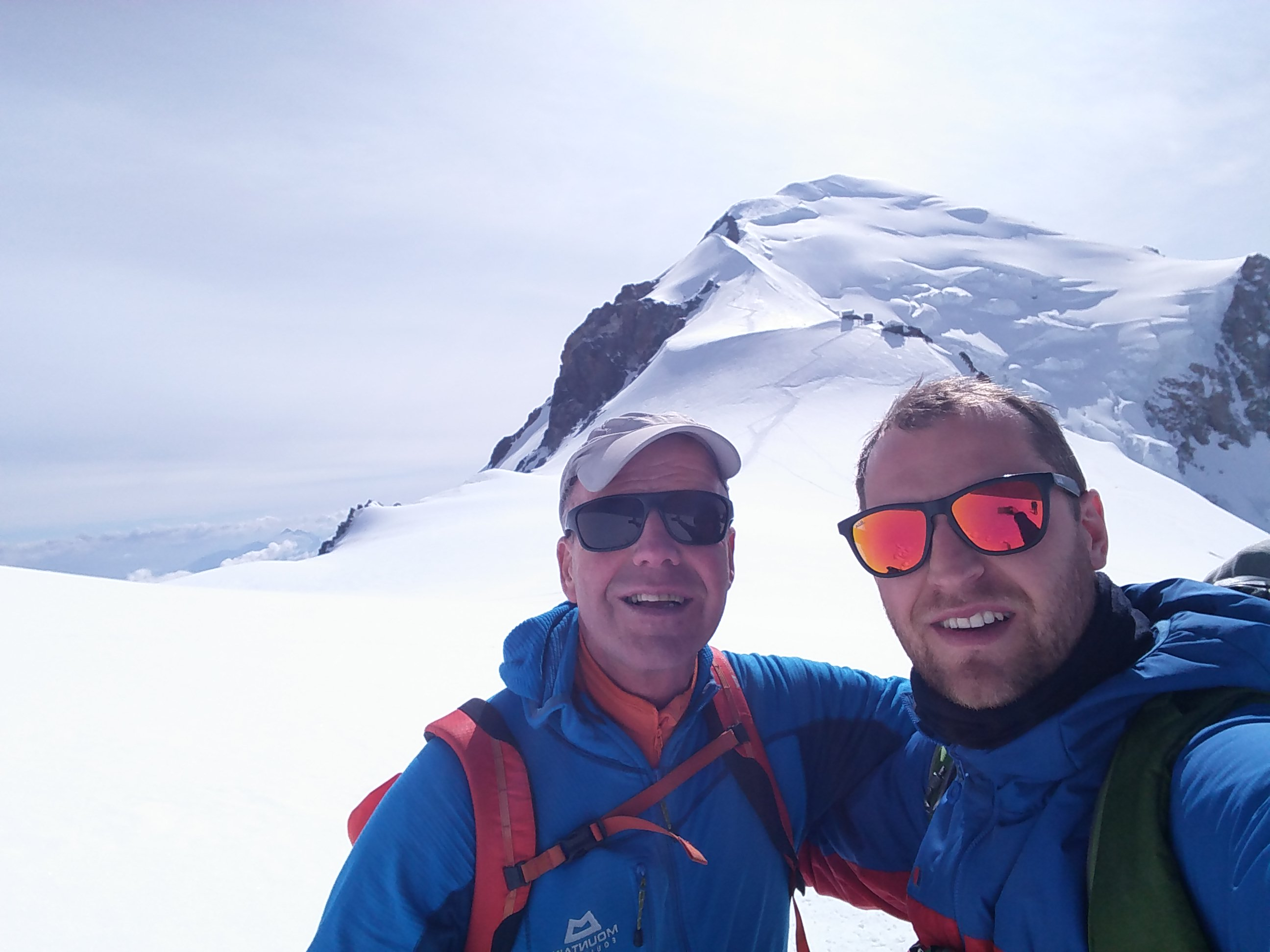 Me and Sandy Allan on Dome du Gouter