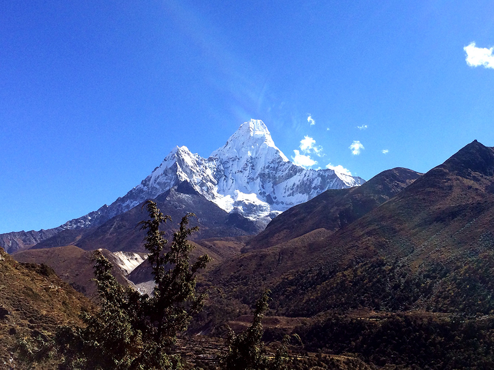 View of Ama Dablam along the Everest Base Camp Trek