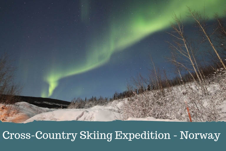 Cross-Country skiing in the arctic, Norway
