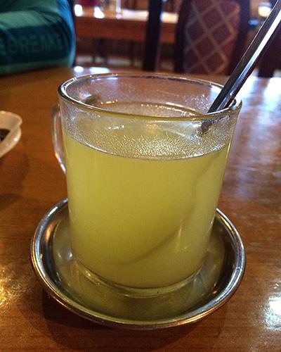 My favorite drink on the trek - Hot Lemon