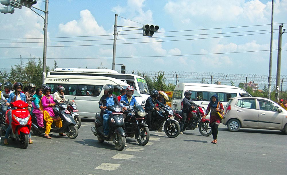 Chaotic Traffic in Kathmandu