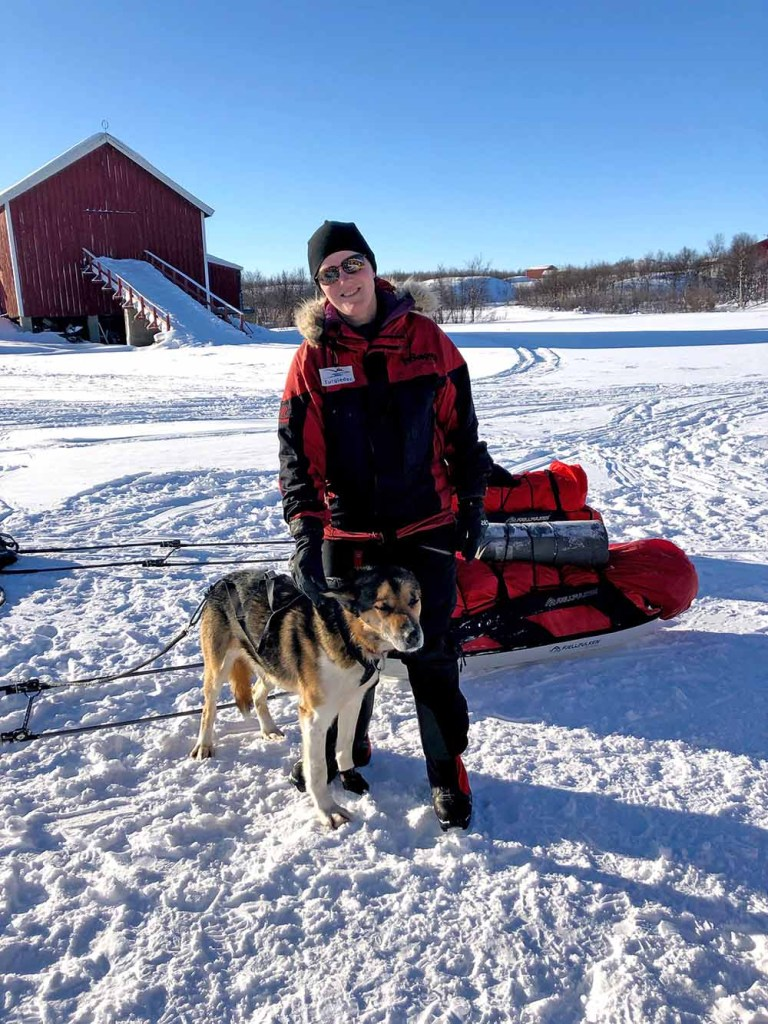 Our guide and her dog, Sno