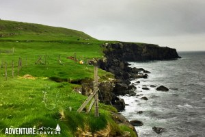 The view of the coast in Nolsoy, Faroe Islands