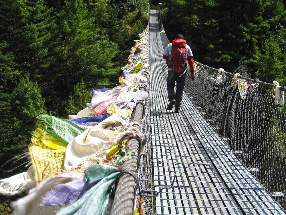 Prayer Flags and Suspension Bridges - Everest Base Camp Trek