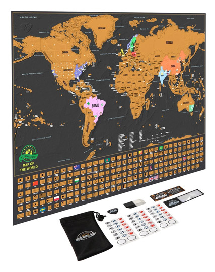 Unique Travel Buddy Gift Ideas - World Scratch Map Deluxe