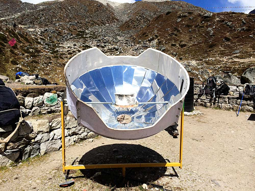 Boiling water by Solar Power